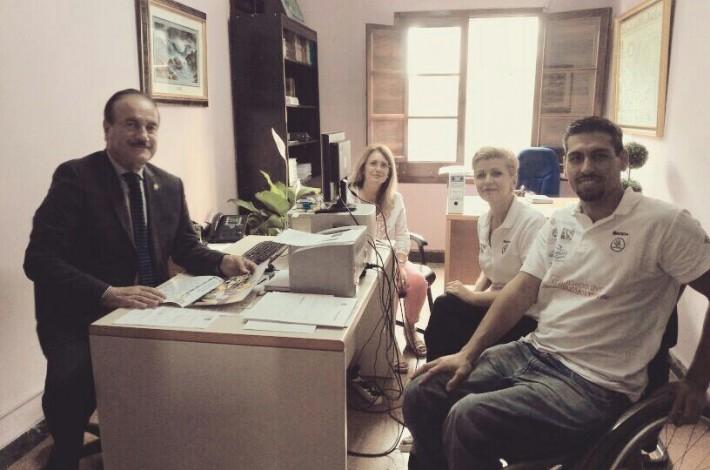 Con D.Manuel Del Rosario Alcalde De Firgas y Dña Dolores Rosales Rodriguez