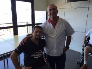 Domingo Pulido (Izquierda) junto al psicólogo Héctor Montesdeoca (Derecha)