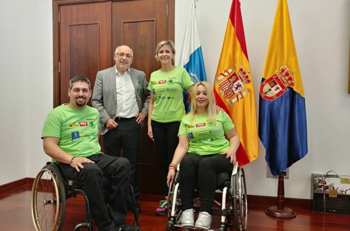 Hoy fuimos al Cabildo de Gran Canaria para agradecer al Presidente del Cabildo D. Antonio Morales Méndez el apoyo recibido y presentarle nuestros proyectos deportivos de cara al 2018. #deporte #inclusión #discapacidad #tupuedesconseguirloquequieras con #ilusión #capacitas Avis Canarias SKODA Canarias